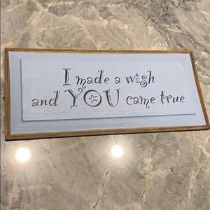 I Made A Wish And You Cane True Wall Decor